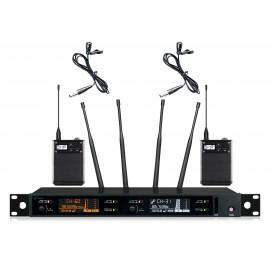 Shur AXT-118XD Портативный микрофон двойной петличка