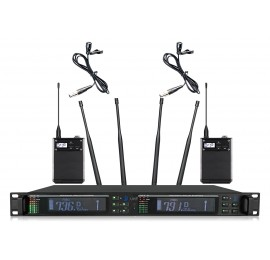 Shur AXT-2300X Портативный микрофон двойной петличка