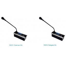 Встроенный микрофон с функцией голосования D6231 / D6232